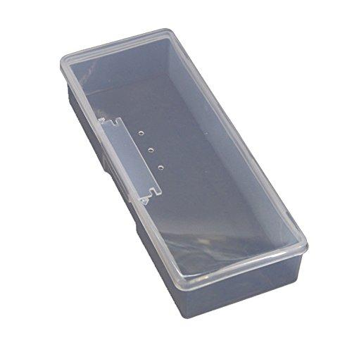 Boîte de rangement en plastique transparent pour fournitures de manucure et pinceaux