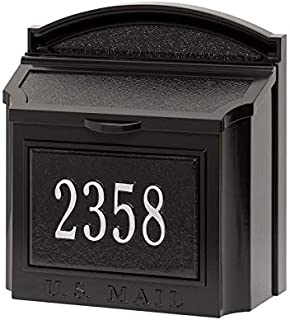 Whitehall 16284 Aluminum Wall Mailbox Package in Black/Silver
