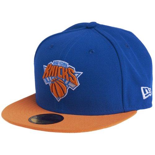 New Era Erwachsene Baseball Cap Mütze NBA Basic New York Knicks 59Fifty Fitted, Blau, 6 7/8