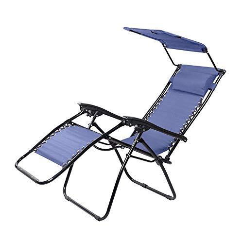Yaunli Zomerligstoel Zero Gravity Chair met overkapping, terras, zonnescherm, verstelbare vouwen tuin in buiten ligstoel