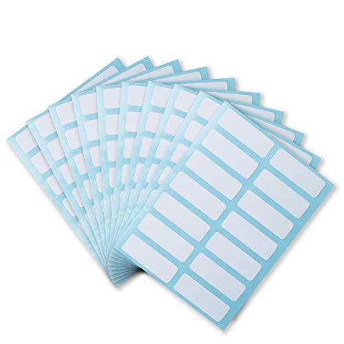 nuoshen 24 Blätter Universal Etiketten, Klebeetiketten Adressetiketten Haushaltsetiketten Tiefkühletiketten für Büro und Haushalt 13 x 38 mm, 336 Packung