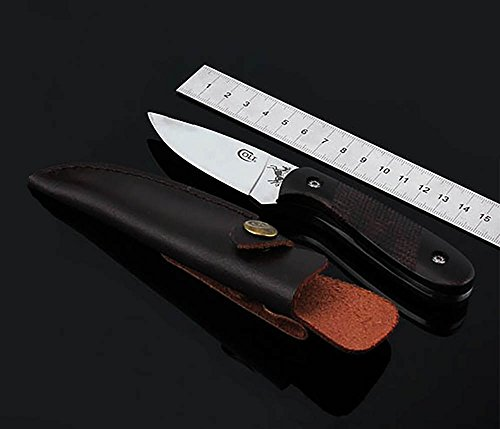 Colt OEM Outdoor Gürtelmesser Fahrtenmesser Feststehende Klinge Messer Überlebensmesser jagdmesser CT343 holzgriff Buschmesser Erwachsene Mit Leder Scheide