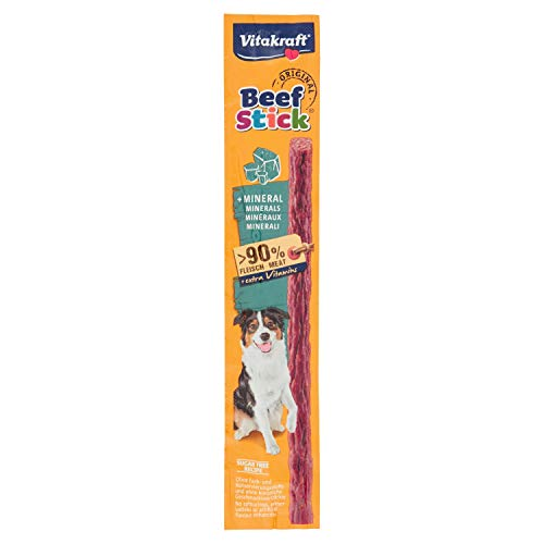 Vitakraft - Beef Stick Minerales, Snack para Perros de Carne con Minerales - 12 g ✅
