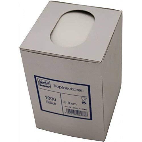1000 Tassendeckchen weiß 9 cm Durchmesser