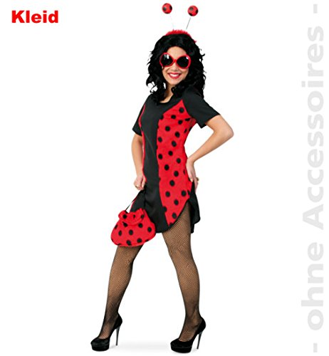 Vestido de mariquita Coccinella 44 con peluche, 1 pieza, para mujer