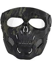BOROK Máscara Táctica del Cráneo, Máscara de Paintball para Airsoft / Fast / CS -MA-110-OD
