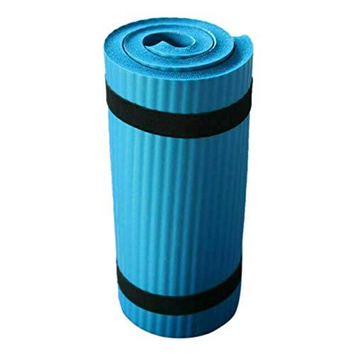 Mntins tappetino per yoga, pilates, esercizi e palestra, antiscivolo, spessore: 15 mm Blu