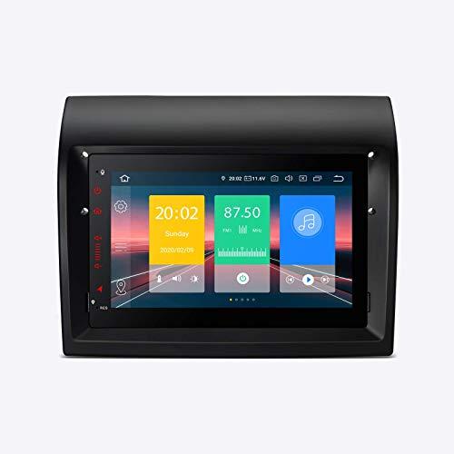 Android 10.0 Estéreo para automóvil 1 DIN Radio 7 pulgadas Pantalla táctil Navegación GPS Unidad principal Soporte Plug and Play Bluetooth5.0 WIFI DVR OBD TPMS Espejo de pantalla para Fiat Ducato -