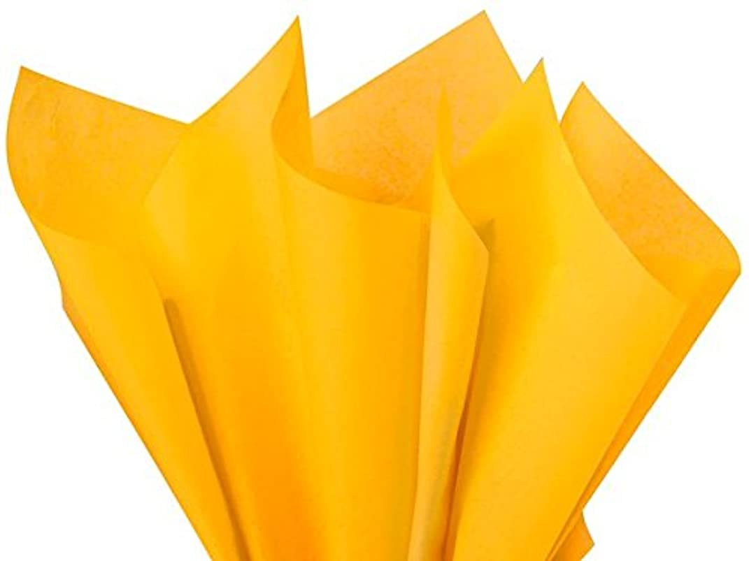 Goldenrod Tissue Paper 15 x 20 inches 100pk Premium qaulity gift wrap paper A1 bakery supplies
