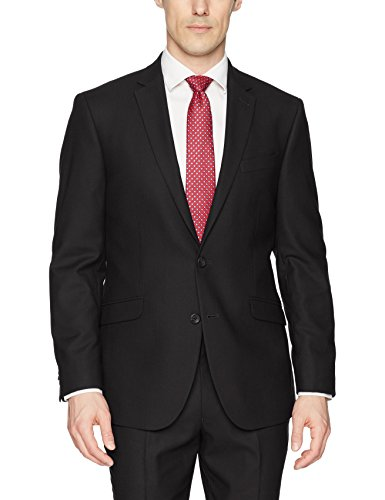 Kenneth Cole REACTION Men's Techni-Cole Stretch Slim Fit Suit Separate Blazer (Blazer, Pant, and Vest), Black, 42 Long