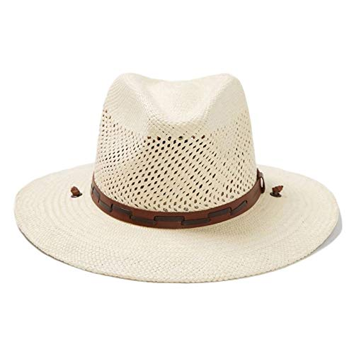 Stetson Men's Stentson Airway Vented Panama Straw Hat, Natural, Large