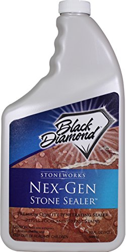 Black Diamond Stoneworks NEX-GEN Natural Stone Penetrating Sealer: Seals & Protects; Granite, Marble, Travertine, Limestone, Grout, Tile, Brick, Slate Floors and Patios 1-Quart