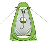 erhuo Tenda istantanea Portatile Campeggio Doccia WC spogliatoio Camera Singola Privacy Tenda da Viaggio Borsa per Adulti casa, Verde, 150 * 150 * 190CM