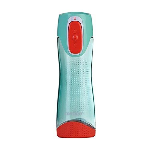 Contigo Trinkflasche Swish Autoseal große BPA-freie Kunststoff Wasserflasche, auslaufsicher, für Sport, Fahrrad, Joggen, Wandern, 500 ml, Türkis