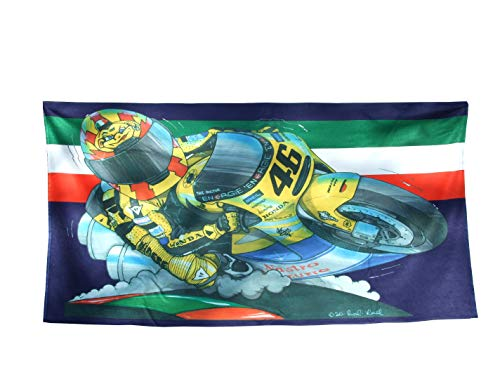 KOOLART Rossi H o n d a Moto GP Toalla de playa, extra grande, 140 x 70 cm, 1393