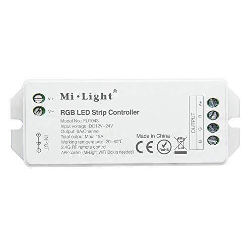 LIGHTEU®, RGB Smart LED-Streifensteuerung für RGB-Streifenlicht, DC 12V 24V max. 15A Controller Original Milight, Fut043