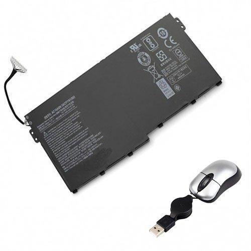 Amsahr ACRAC16A8N-05 - Batería de reemplazo para Acer AC16A8N, Aspire V15 Nitro BE VN7-593G (Incluye Mini ratón óptico) Color Gris