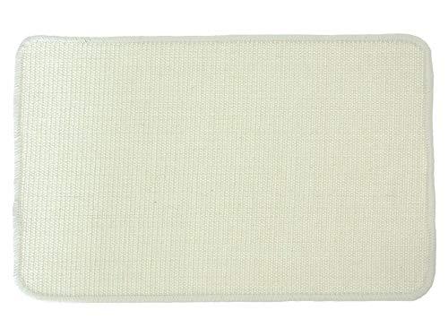 Primaflor - Ideen in Textil Katzen-Kratzmatte Katzenteppich - Creme 50 x 50 cm, Sisal, Langlebige Rutschhemmende Sisal-Matte, Geeignet für Fußbodenheizung, Krallenpflege Sisalteppich für Wand & Boden