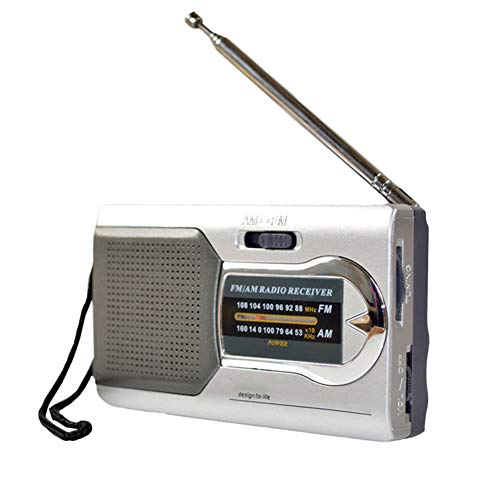 GFFG Battery Powered Ourtdoor Portable AM/FM Pocket Radio Telescopic Antenna Radio Stereo Receiver - - Best Reception and Longest Lasting Transistor Radios Player for The Elderly