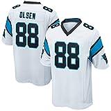FAONL # 88 Greg Olsen Maillot de Football américain Carolina Panthers, Maillot de Rugby Elite Edition Sportswear Training T-Shirt Player Jersey Maillot Respirant-White-M