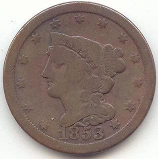 1853 Half Cent - Very Good