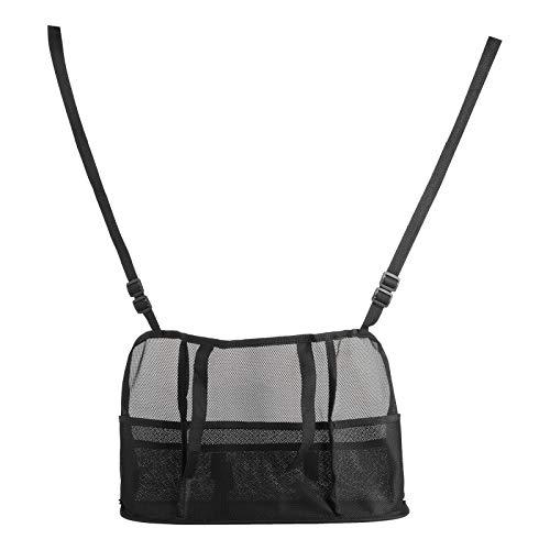 FOLOSAFENAR Car Net Pocket fácil de Instalar Car Organizer Bag Fibra de poliéster Engrosada para Monedero - Ayuda como Barrera para(Black, Luxury Model (Improved Model))