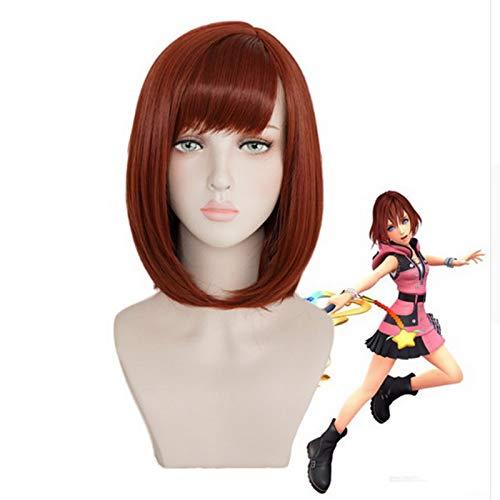 Halloween Kostüm Kingdom Hearts Kairi Auburn Kurze Bob Stil Synthetische Cosplay Perücke Frauen Rollenspiel Haar + Perücke Kappe