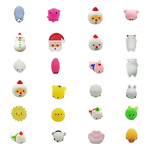 Armfer-household supply 24Pcs Squishy Toys Scented Mini Cartoon Animal Candy Squeeze Toys Soft Slow Rising Kawaii Stress Relief Toy Relax Best Gift for Kids Holiday Birthday Merry Xmas Party Favors