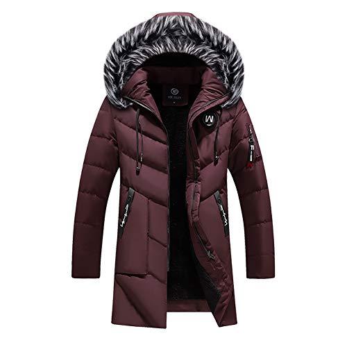 YZY Mannen winterjas met capuchon met grote bontkraag outdoor mid-lengte warme outwear