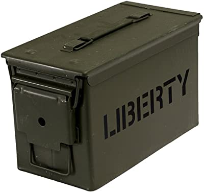 "Liberty Safe Ammo Cannister Storage Box (.50 Caliber) Water and Air Tight 6"" x 11.5"" x 7"