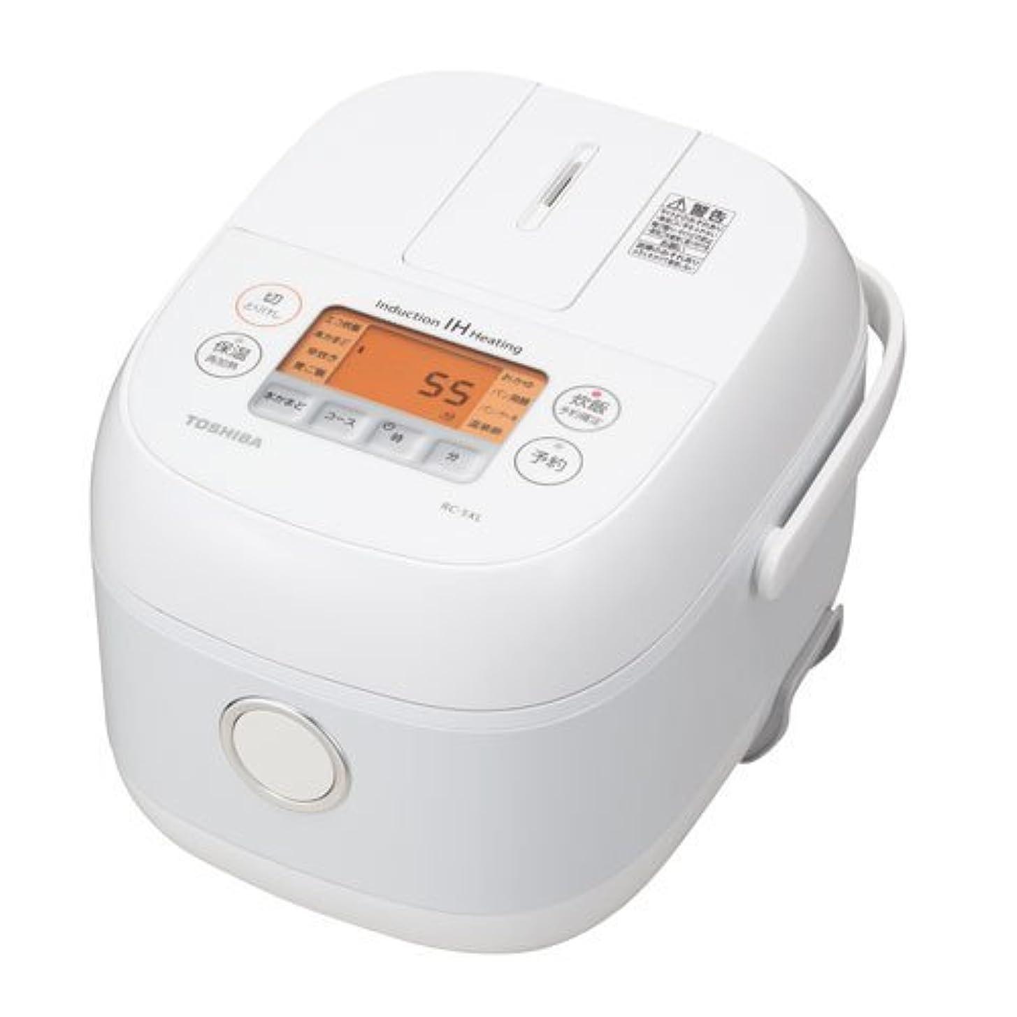 東芝 IHジャー炊飯器(3合炊き) ホワイトTOSHIBA RC-5XL-W