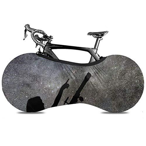 Funda Para Bicicleta,Chica Mirando A Las Estrellas Bolsa De Almacenamiento Antipolvo Cubierta De Bicicleta De Nieve Al Aire Libre, Elegantes Cubiertas De Ruedas De Bicicleta Para Bicicletas Plega