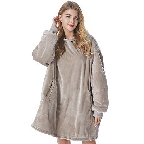 Felicigeely Decken Sweatshirt,übergroße tragbare Decke, weiche, warme, bequeme, riesige Fronttasche für Erwachsene, Männer, Frauen, Teenager, Freunde