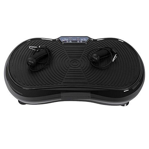 mymotto Vibrationsplatte belastbar bis 150kg mit Fernbedienung und Trainingsbänder Vibration Plate 3D-Vibration