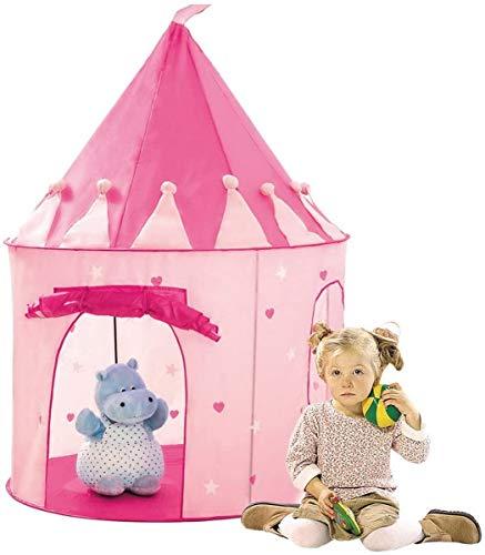 Bino Spielzelt Schloss, Spielzeug für Kinder ab 3 Jahre, Kinderspielzeug (Prinzessinnenzelt aus PES-Material, leichte Reinigung, Kinderzimmer Deko, für mehrere Kinder, Drinnen & Draußen nutzbar), Rosa