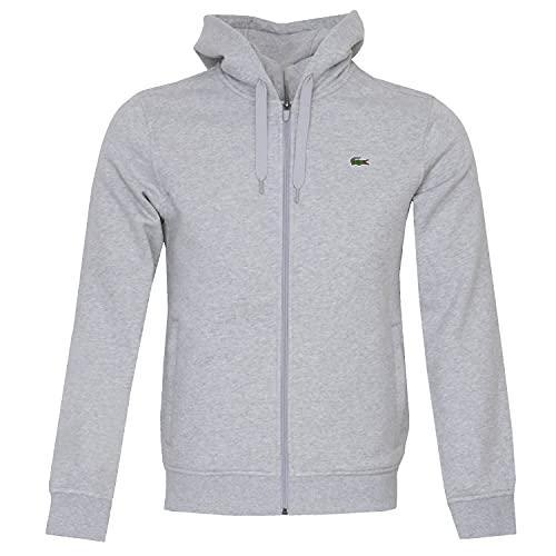 Lacoste Sport SH1551 Sweater, Argent Chine/Elephant, XXL Uomo