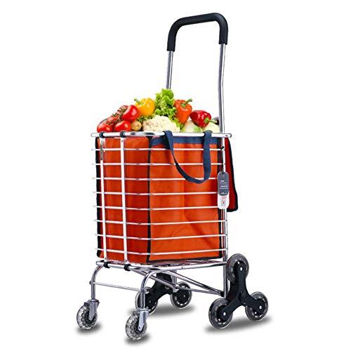 Einkaufswagenwagen, Treppensteigwagen für bis zu 30 kg, Leichter Wagen mit rollendem Achtrad-Fettdruck für Wäsche-, Lebensmittel-, Camping- und Sportveranstaltungen