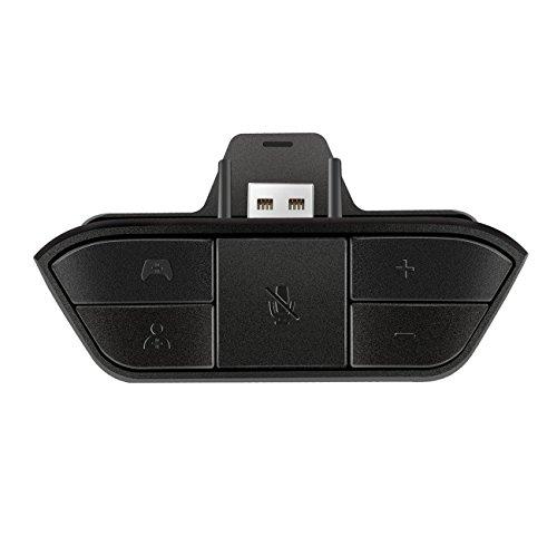Adaptador de Auriculares estéreo Negro Adaptador de Audio para Auriculares Convertidor de Auriculares para Controlador inalámbrico de Juegos Microsoft Xbox One-Negro