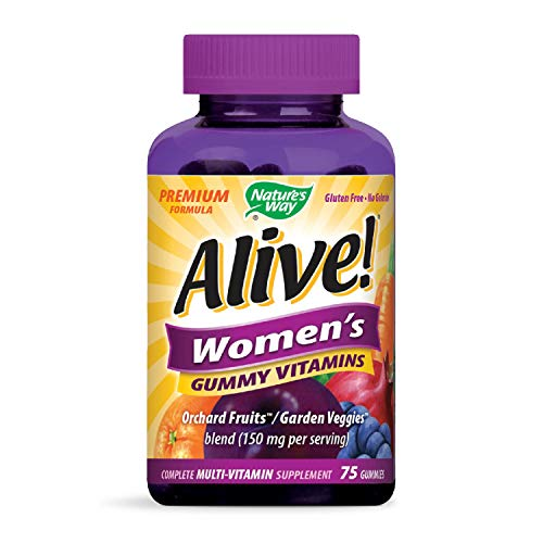 Nature's Way Alive! Women's Premium Gummy Multivitamin, Full B Vitamin Complex, 75 Gummies