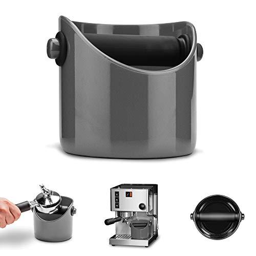 Dreamfarm Grindenstein Abklopfbehälter für Kaffeesatz Steel Wool silber-grau