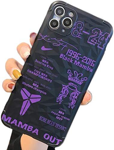 ESACLM Cover per iPhone 11, Ultra Sottile Duro Pc Cover NBA Kobe Bryant Lakers 24 Basket Sport Custodia per iPhone 11 Pro/11 PRO Max,A,iPhone 11
