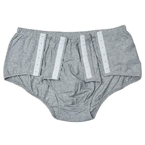 JJZXPJ Inkontinent-Unterhose, für Erwachsene, waschbar, wiederverwendbar, Inkontinenzunterwäsche, Überzug für Bruch, Inkontinenz, bettlägerige Patienten und ältere Menschen, grau, Large