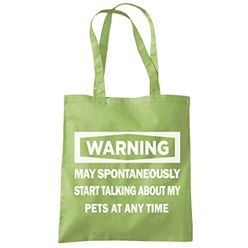 Sac cabas fourre-tout avec inscription « Warning - May...