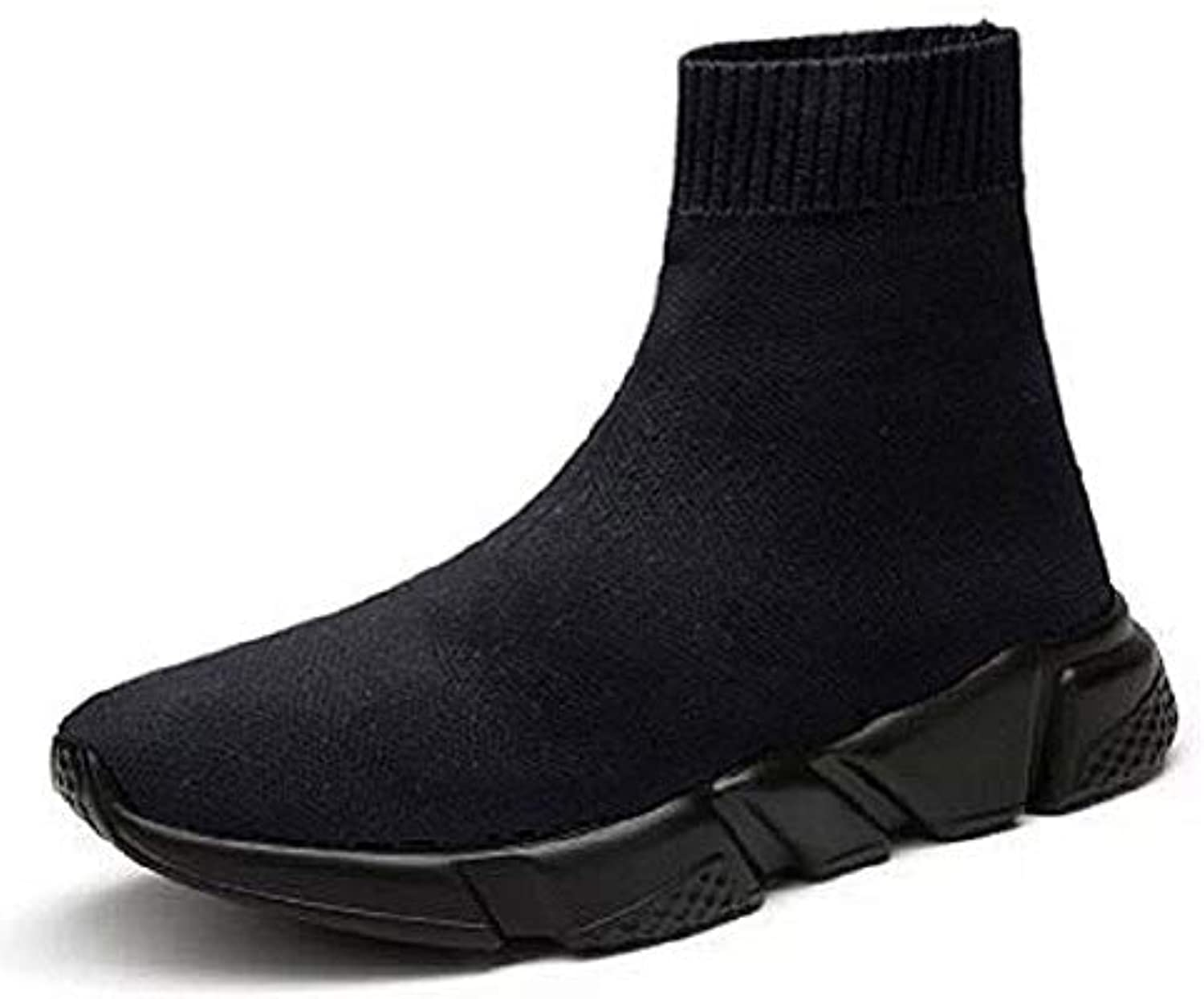 Linmatealliance Outdoor&Sports Outdoor&Sports shoes Knit Upper Breathable Sport Sock Boots Chunky Sneakers High Top Running shoes for Men Women, shoes Size 42(Black)