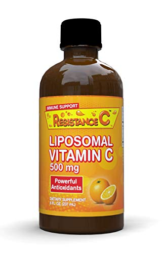 Resistance C Liposomal Vitamin C Liquid 500 mg, High Absorption Vitamin C, Ascorbic Acid, Supports Immune System, Powerful Antioxidant, 47 Servings, 8 Fl Oz