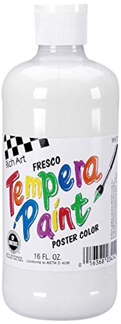Darice Rich Art Fresco Tempera Paint - White - 16 oz