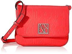Idea Regalo - ARMANI EXCHANGE Liz-Small - Borsa a tracolla da donna, 14 x 8 x 20 cm, Rosso (Rosso (rosso - rosso).), 14x8x20 cm (B x H x T)