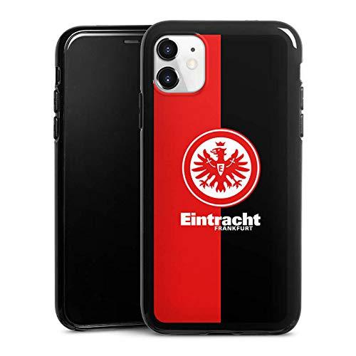 DeinDesign Silikon Hülle kompatibel mit Apple iPhone 11 Case schwarz Handyhülle Eintracht Frankfurt Offizielles Lizenzprodukt SGE