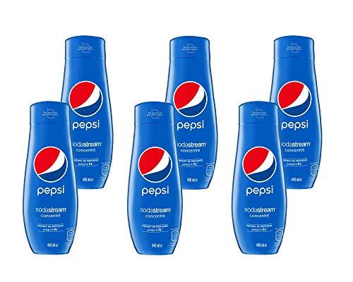 SodaStream Sirup Pepsi Cola - 1x Flasche ergibt 9 Liter Fertiggetränk, Sekundenschnell zubereitet und immer frisch, 6er Pack (6 x 440 ml)