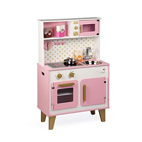 Janod- Cancy Chic Cocina para Niños, Color rosa/blanco (Juratoys J06554)